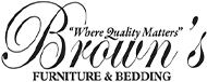 Brown's Furniture & Bedding Logo